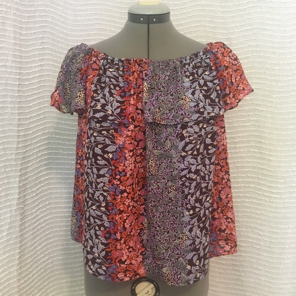 52933eb26de72 Anthropologie Tops - Anthropologie Maeve Floral Boho Ruffle Top Blouse